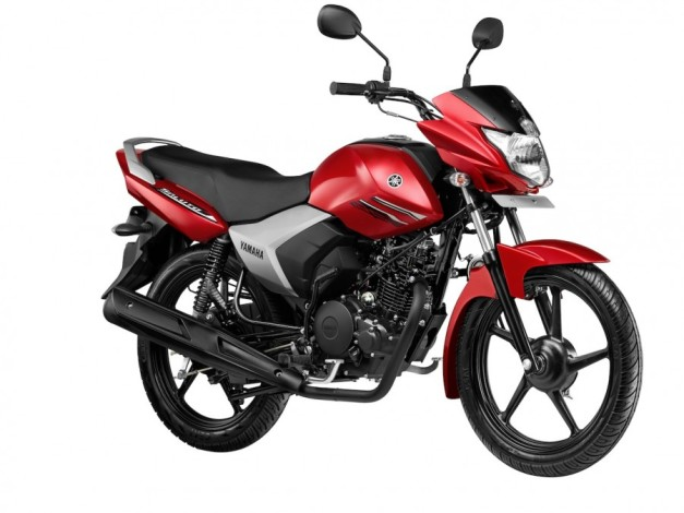 new-yamaha-saluto-125cc-red-motorcycle-front