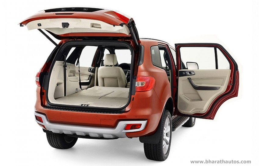 2015 Ford Endeavour India Boot Space