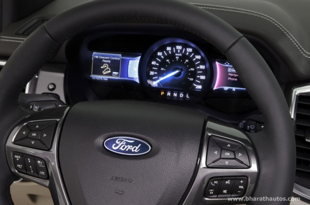 2015-ford-endeavour-india-steering-wheel-instrument-console