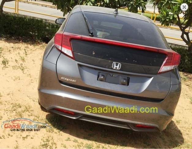 honda-civic-hatchback-rear-imported-to-India-for-RD-purpose