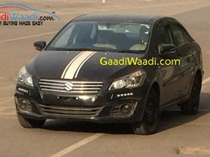 maruti-ciaz-rs-sportier-variant-drl-spied-india