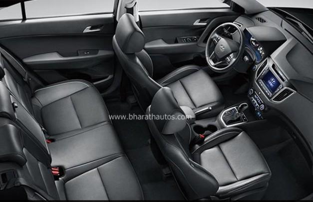 Hyundai Creta Compact Suv Inside Interior Bharathautos