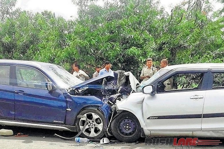 Maruti Swift Collides With Bmw X1 All In Swift Die While All In Bmw