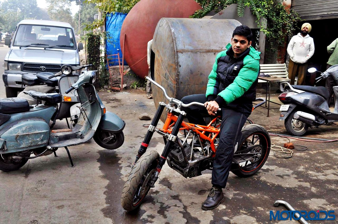 here s what you get when you bring together yamaha rd 350 and ktm