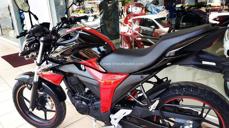GALLERY: Suzuki Gixxer 155 in Candy Antares Red/Glass ...