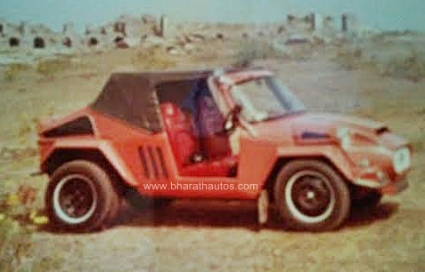 Modified Premier Padmini Fiat 1100 Buggy Red India Front View