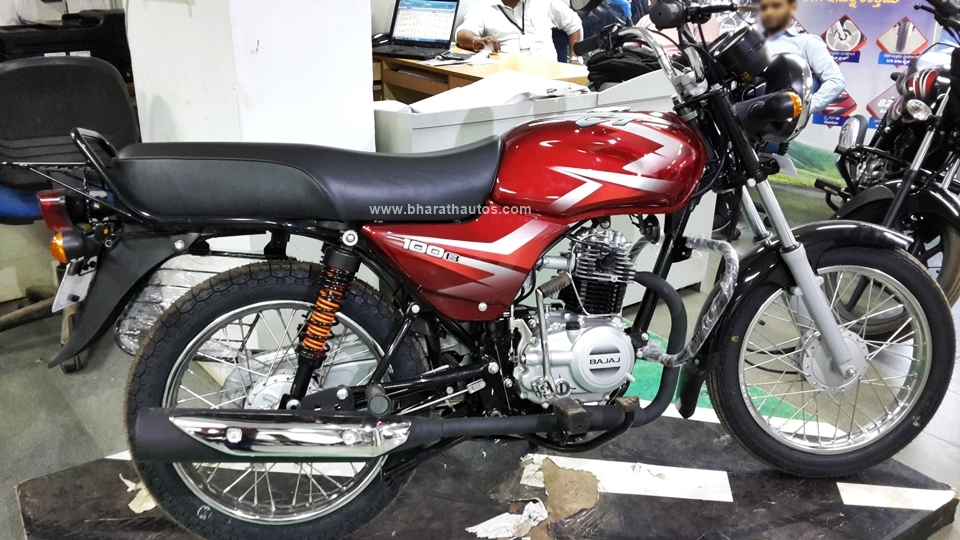 All New 2016 Bajaj Ct 100b Snapped At A Dealership In