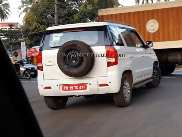 mysterious-mahindra-tuv300-test-mule-spied-rear