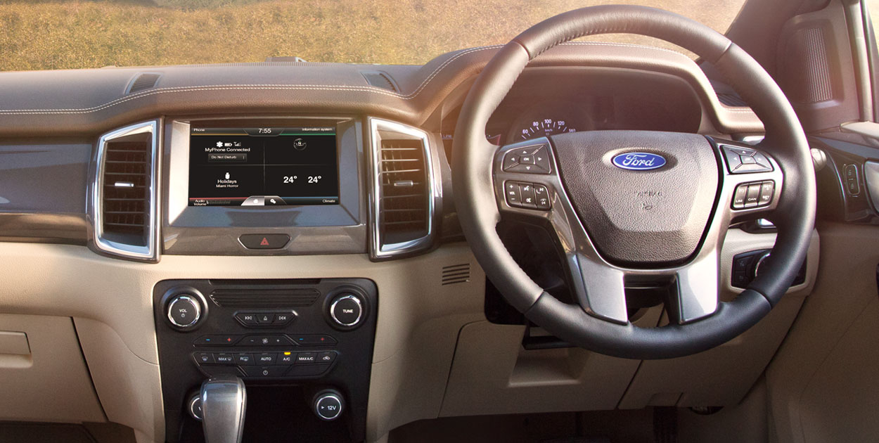new-2016-ford-endeavour-india-interior-inside - BharathAutos