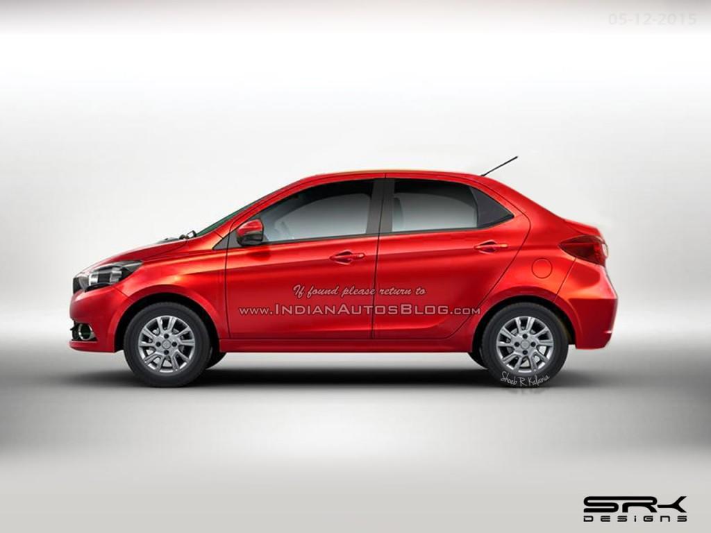 Tata Sway Zica Based Compact Sedan Rendered Amp Spy Pictures