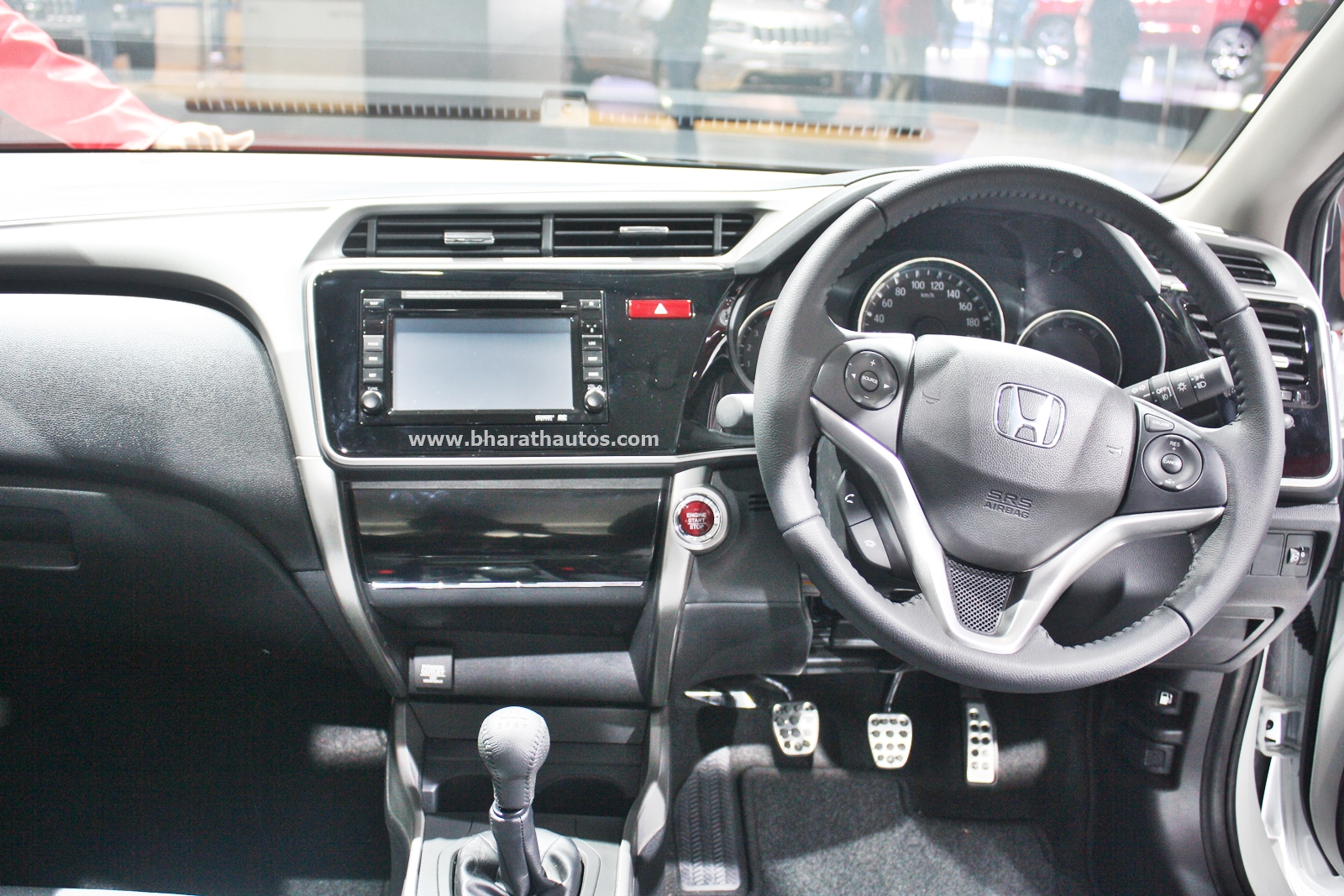 Honda City Kitted Up Model With Black Interior At 2016 Auto Expo
