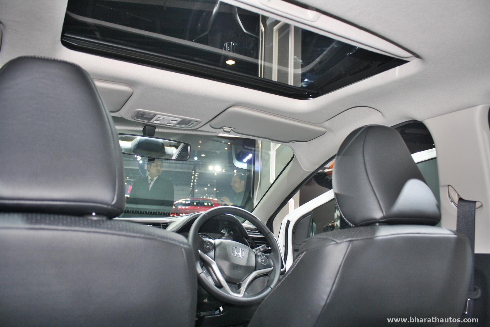 Honda city kitted up model with black interior at 2016 for Image city interiors