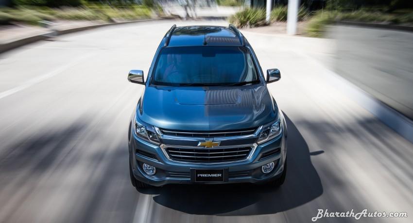 New 2016 Chevrolet Trailblazer Premier Facelift Front Pictures