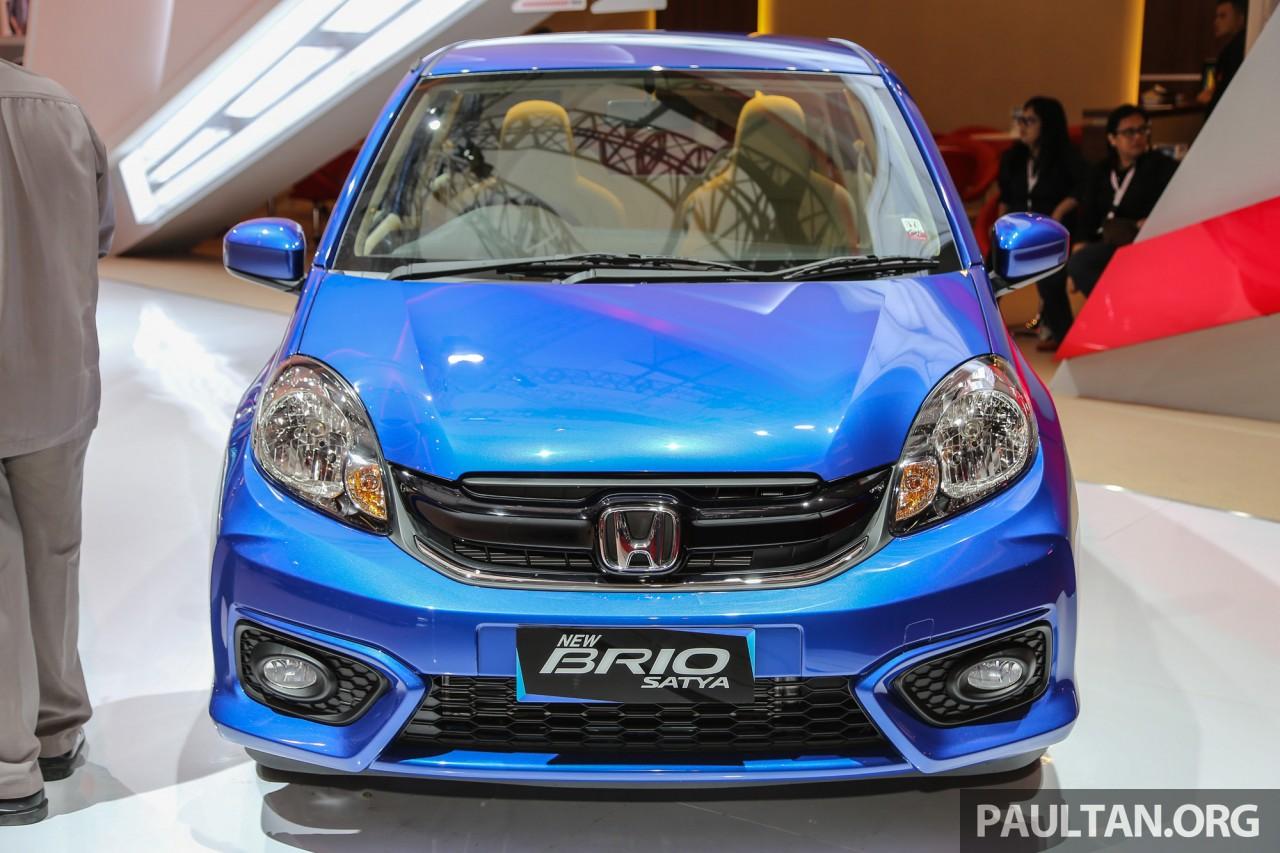 Honda Brio facelift unveiled at 2016 Indonesia International Motor Show (IIMS)