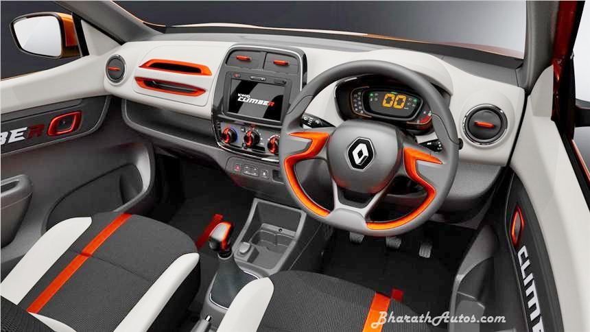 Renault Kwid Climber Concept Limited Edition India Dashboard