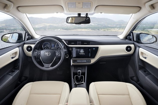 2017 New Toyota Corolla Facelift India Cabin Inside Pictures Photos Images Snaps