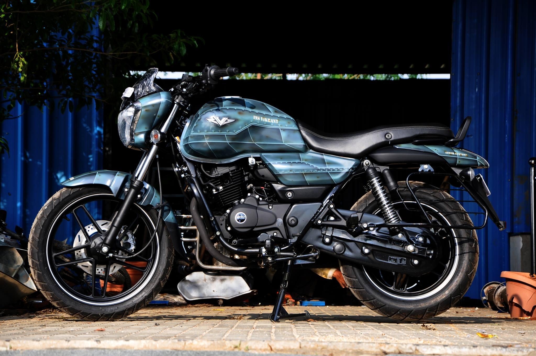 Story Behind The Modified Bajaj V15 By Eimor Customs In