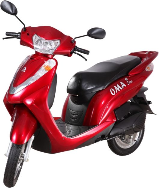 lohia-oma-star-red-electric-scooter-pictures-photos-images-snaps-video