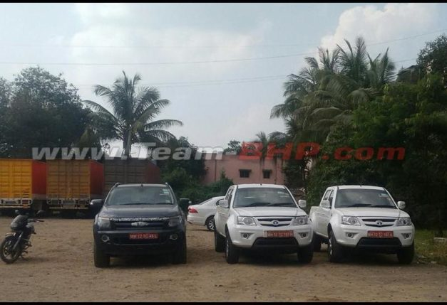 tata-xenon-xt-pickup-facelift-automatic-gearbox-ford-ranger-front-spied-pictures-photos-images-snaps