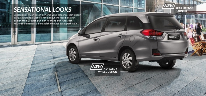 Honda Mobilio Mpv Facelift Launched In Indonesia
