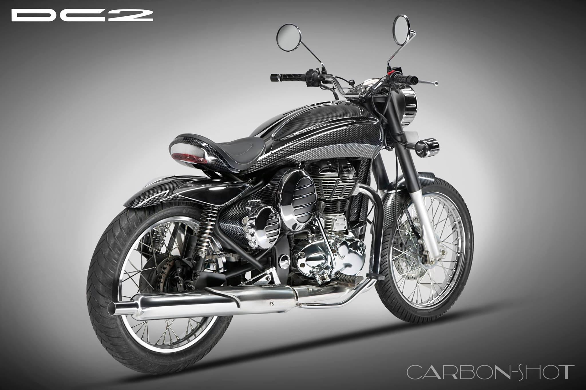 Dc Design Royal Enfield Classic Bullet 350 500 Black Dc2 Carbonshot