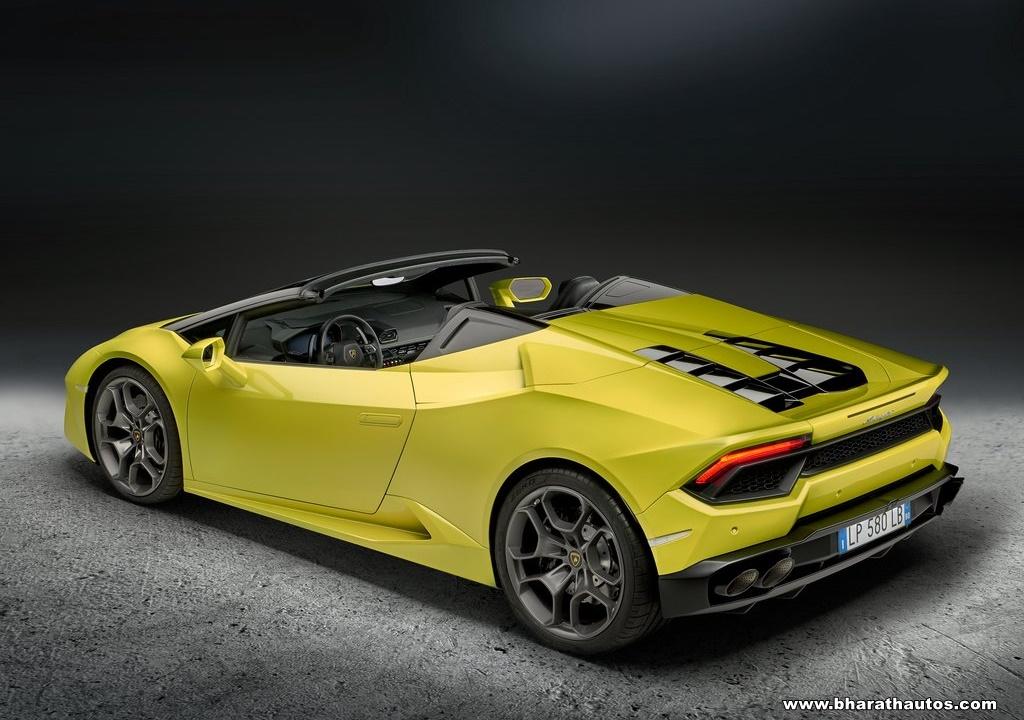 Lamborghini Huracan Rwd Spyder Now In India Rs 3 45 Crore