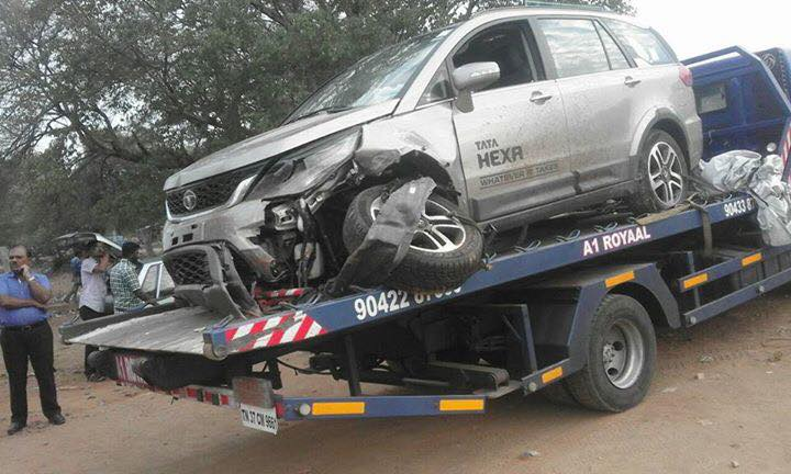 Rapid City Car Dealerships >> Tata Hexa first reported accident in India, occupants safe