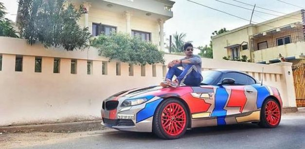 bmw-z4-wrapped-ashwin-sundar-accident