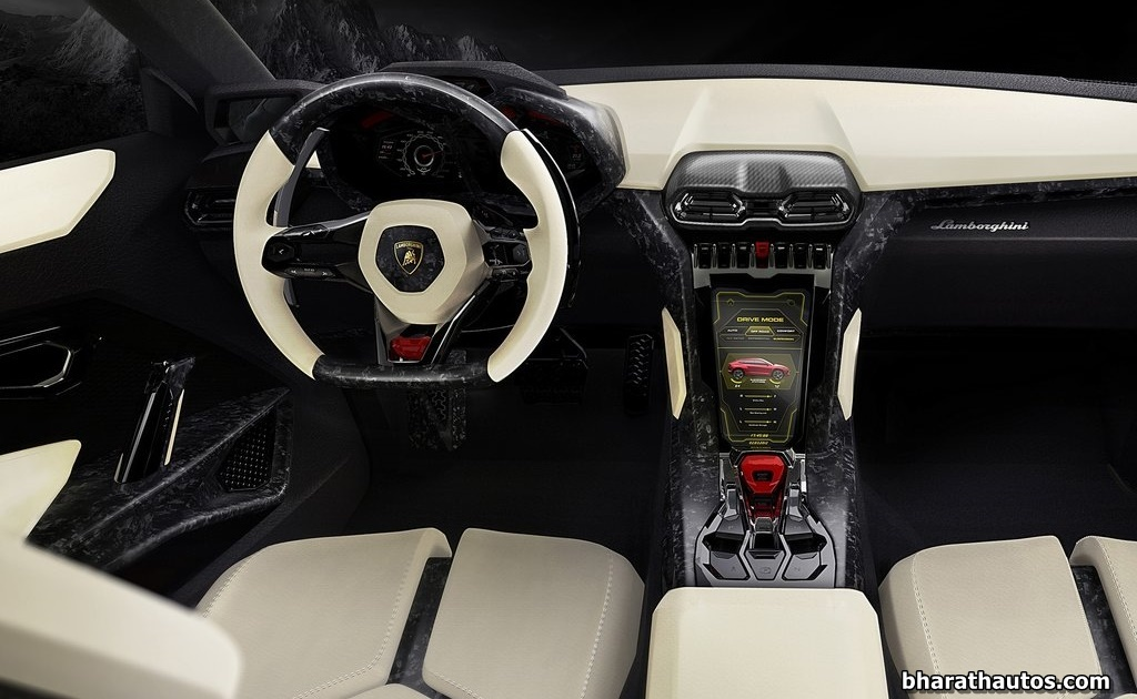 Lamborghini Urus Suv Super Sports Car India Dashboard Interior