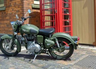 2017-royal-enfield-classic-battle-green-india-dealership-showroom
