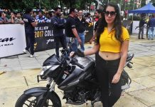 bajaj-pulsar-ns160-officially-unveiled-by-ghost-ryderz-stunt