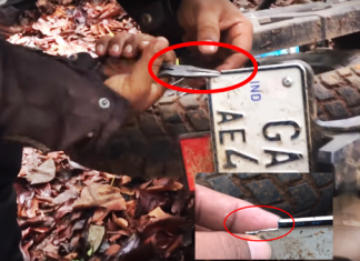royal-enfield-himalayan-struck-middle-jungle-repaired-number-plate