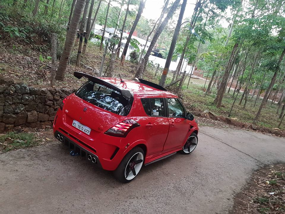 Maruti Swift given the Nissan GT-R treatment, and it looks fabulous