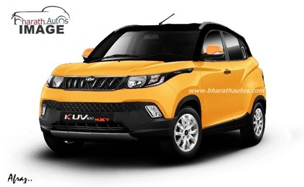 new-2018-mahindra-kuv100-nxt-facelift-yellow-pictures-photos-images-snaps-gallery