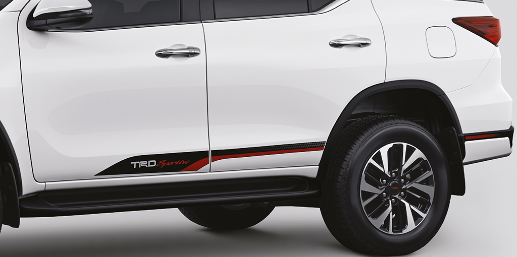 New Toyota Fortuner Trd Sportivo Side Decals Body Graphics