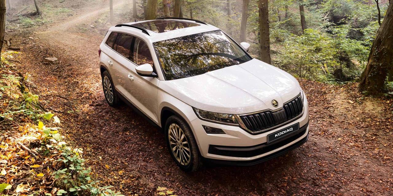 skoda kodiaq 7 seat suv only available in style 4x4 at variant at rs lakh. Black Bedroom Furniture Sets. Home Design Ideas