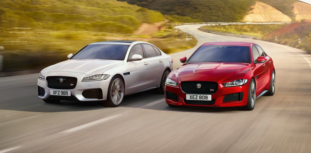 jaguar xe and xf with 2 0 litre ingenium petrol engine. Black Bedroom Furniture Sets. Home Design Ideas