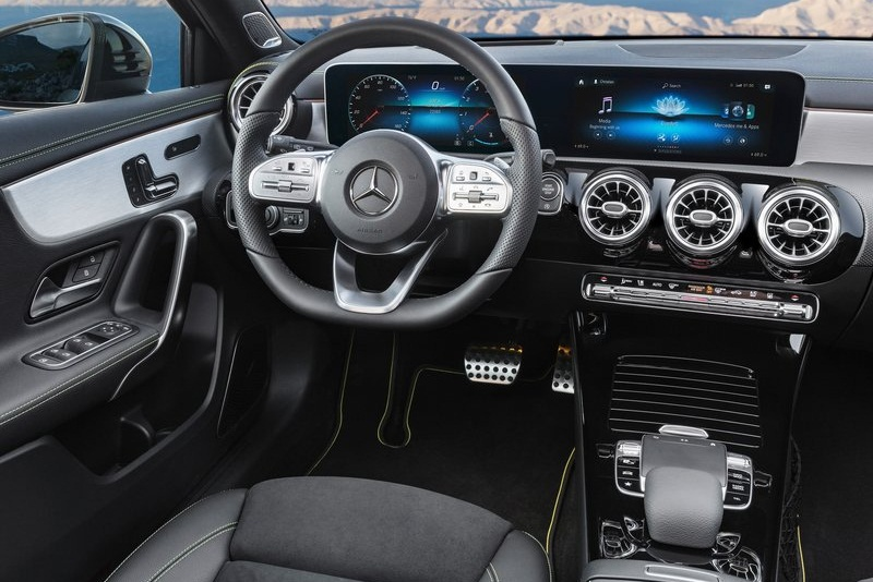 new next gen 2019 mercedes a class interior dashboard. Black Bedroom Furniture Sets. Home Design Ideas