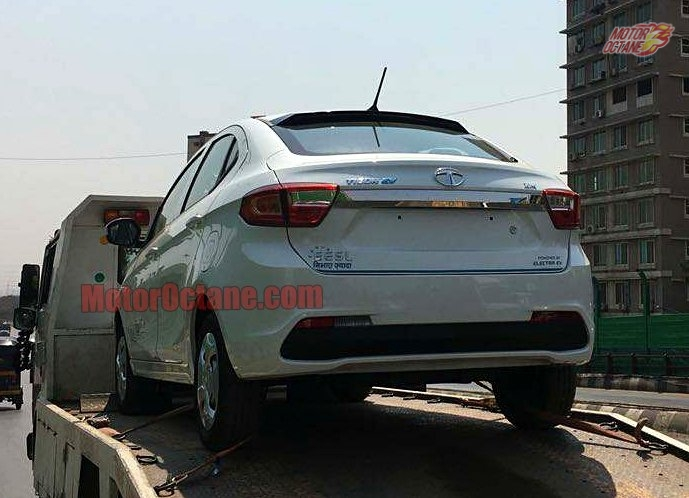 Tata Tigor Electric Spied Undisguised To Arrive In Early 2018