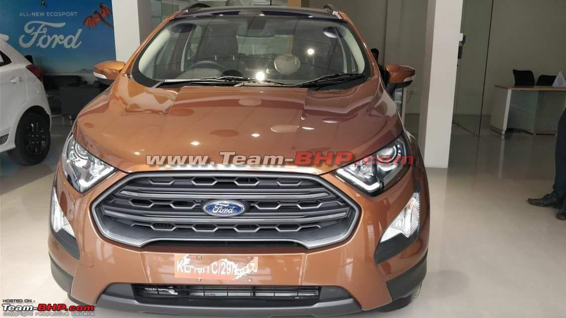 Top Of The Line Ford Ecosport Titanium S Features A Blackened Out Grille Headlamp Inserts Roof Roof Rails And Rear Spoiler