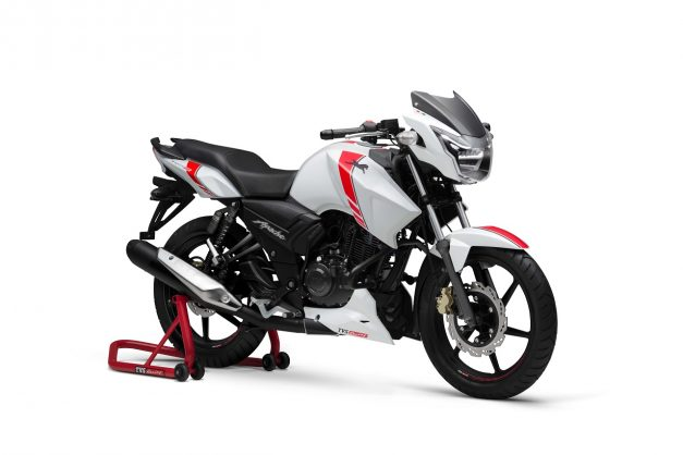 tvs-apache-rtr-160-white-race-edition-front-pictures-photos-images-snaps-gallery