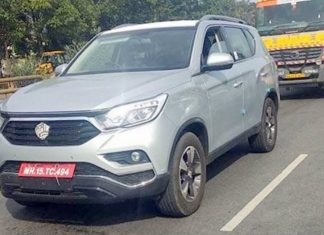 mahindra-xuv700-ssangyong-rexton-suv-spied-india-launch