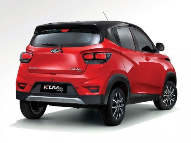 mahindra-kuv100-nxt-diesel-amt-variant-electric-version-rear-back-pictures-photos-images-snaps-gallery