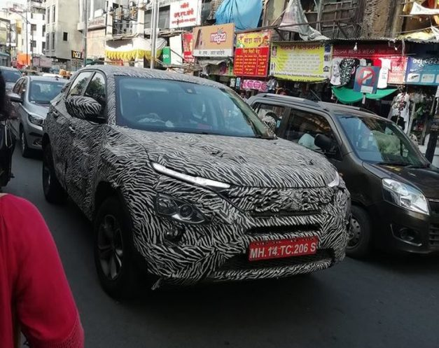 Tata-Harrier-production-ready-camouflage-testing-at-Pune