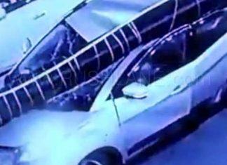 tata-nexon-billboard-pillar-falls-dehradun-passengers-escape-video