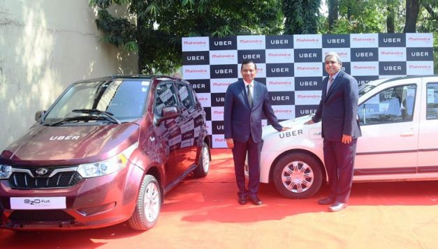 mahindra-uber-join-hands-hyderabad-electric-vehicles