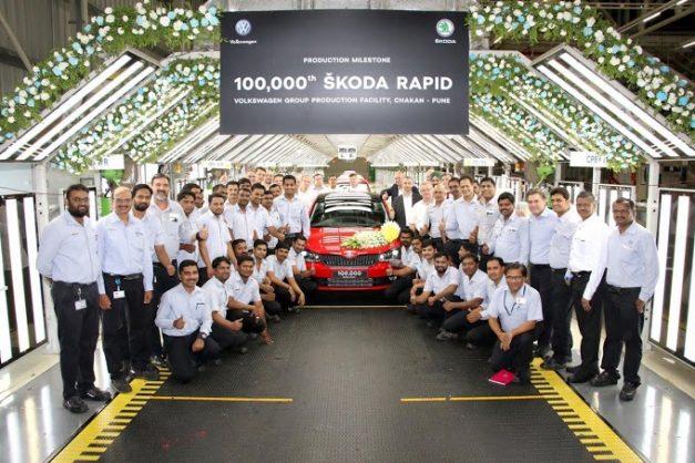 skoda-autos-india-plant-celebrates-1-lakh-rapid-rollout