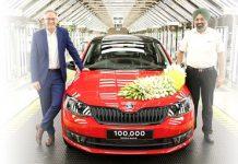 skoda-autos-india-plant-celebrates-100000th-rapid-rollout