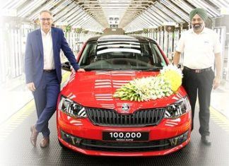 skoda-autos-india-plant-celebrates-100000th-rapid-rollout