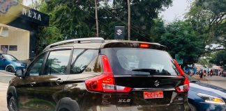 maruti-xl6-metallic-brown-spied-detail-ahead-today-launch